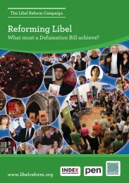 Reforming Libel - Sense About Science