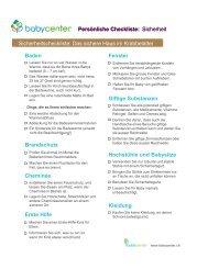 PDF-Version der Checkliste - BabyCenter