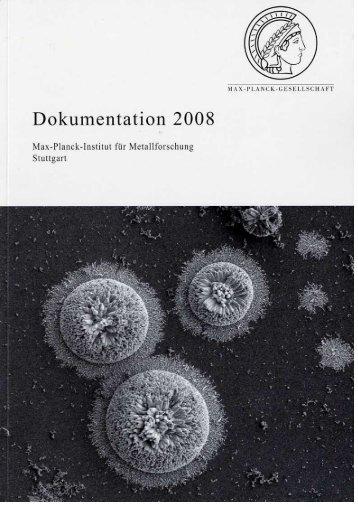 Dokumentation 2008 - Max-Planck-Institut für Intelligente Systeme