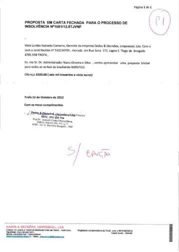 Propostas recepcionadas - Nuno Oliveira da Silva