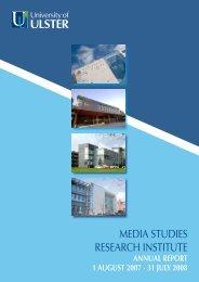 MEDIA STUDIES RESEARCH INSTITUTE - University of Ulster