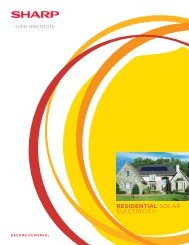 Sharp Residential Solar Electricity Products