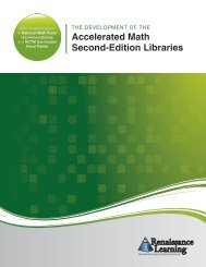 Accelerated Math Second-Edition Libraries - Renaissance Learning