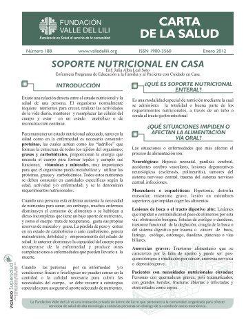 Carta Salud Enero - Fundacion Valle del lili