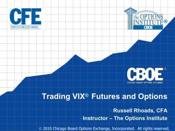 Vix options trading