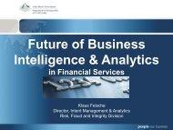 Future of Business Intelligence & Analytics