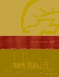 Annual Reports CRIUGM 2000-2001