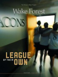 Wake Forest Magazine September 2002 - Past Issues - Wake Forest ...