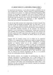 Claroscuros en la Reforma Psiquiátrica - Asociación Española de ...