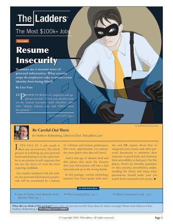 resume insecurity theladders