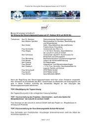 Protokoll der Sitzung des Steuerungsausschusses vom ... - Bwa-fk.de