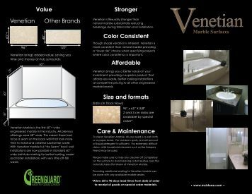 Venetian Marble Brochure - Natural Stone