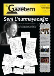 Gazetem Sayı-8 - İstanbul Ticaret Üniversitesi