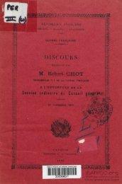 Discours prononcé par M. Robert Chot, gouverneur P. I. de ... - Manioc