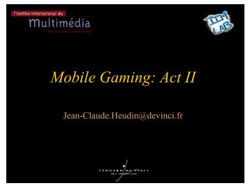 Mobile Gaming: Act II - Idate