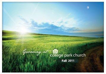 Contents - College Park Church