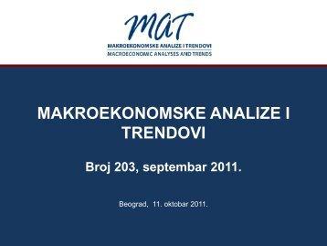 Prezentacija 203. broja časopisa ... - Ekonomski institut
