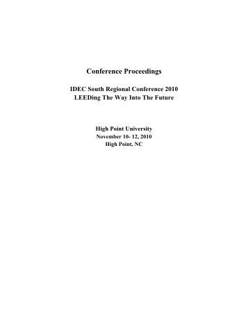 South Region Conference Proceedings