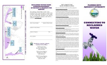 Reclaimed Water Brochure - Florida Keys Aqueduct Authority