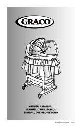 owner's manual manuel d'utilisateur manual del propietario - Graco