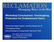 Overtopping Protection for Embankment Dams