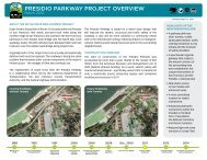 PRESIDIO PARKWAY PROjEct OVERVIEW