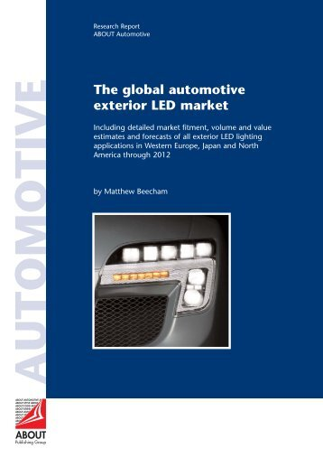 The global automotive exterior LED market - ABOUT Publishing ...