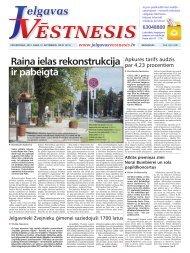 2012.gada 13.septembris Nr.37(273) - Jelgavas Vēstnesis
