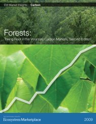 Forests: Taking Root in the Voluntary Carbon Market - Ecosystem ...