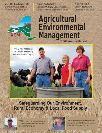 2009 AEM Annual Report - NYS Soil & Water Conservation Committee