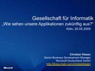 Gesellschaft für Informatik - GI Regionalgruppe Köln