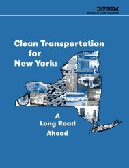 Clean Transportation for New York: - INFORM, Inc.
