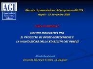 metodi innovativi per il progetto di opere geotecniche e - ReLUIS