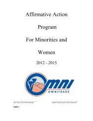 AFFIRMATIVE ACTION PROGRAM - Omnitrans