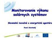 Monitorovanie výkonu solárnych systémov - Slovenská inovačná a ...