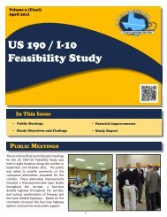 US 190 / I-10 Feasibility Study - Welcome to the Texas Department ...