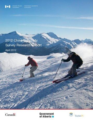 2012 China Ski Study - Canadian Tourism Commission - Canada