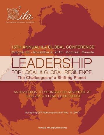 Sponsor & Ad Guide - International Leadership Association