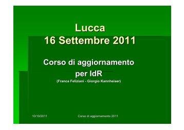 Lucca 16 Settembre 2011 - Arcidiocesi di Lucca