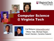 CS - Department of Computer Science - Virginia Tech