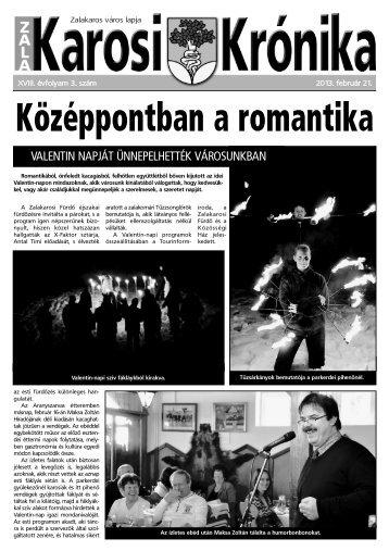 2013. február 21-i szám - Zalakaros
