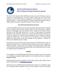North Pacific Research Board - Marine Technology Society