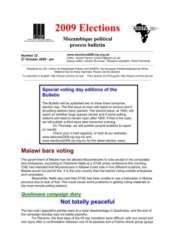 2009 Elections Bulletin 22 - 27 Oct pm.pdf - CIP