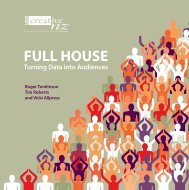 FULL HOUSE Turning Data into Audiences - Creative New Zealand