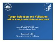 Target Validation Workshop Report - Advisory Committee to the ...