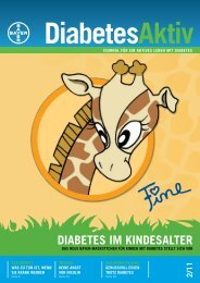 DIABETES IM KINDESALTER -  Bayer-Diabetes-Blutzuckermessgerät