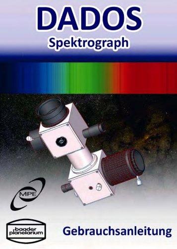DADOS Spektrograph Gebrauchsanleitung - Baader-Planetarium ...