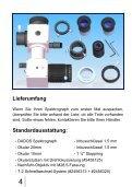 DADOS Spektrograph Gebrauchsanleitung - Baader-Planetarium ... - Page 4