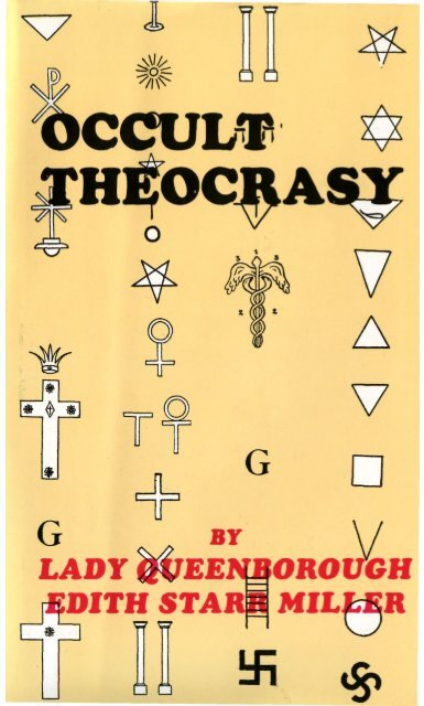 D Antoni Rattan A Castelvetrano.Pdf Occult Theocracy By Lady Queenborough Whale