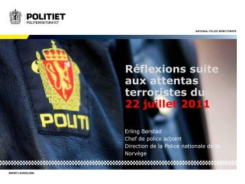 Police as an agent of prevention - International Centre for the ...